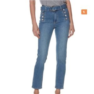 NWT Paige Sarah High Rise Cropped Jeans